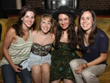 Alyssa Bonagura Photo - July 26 2011 - Nashville TN - Up-and-coming artists Alyssa Bonagura (in hat) and Sean Della Croce (r) with friends backstage Artists musicians and songwriters came together at Mercy Lounge to help raise funds for Pete Huttlinger a widely respected guitarist and Nashville studio artist  Huttlinger has a congenital heart disease and is in need of a heart transplant Photo credit Dan HarrAdmedia