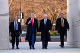 Martin Luther Photo - United States President Donald J Trump and US Vice President Mike Pence visit the Martin Luther King Jr Memorial in Washington DC on January 20 2020Credit Erin Scott  Pool via CNPAdMedia
