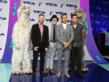 Fall Out Boy Photo - 27 August 2017 - Los Angeles California - Andy Hurley Patrick Stump Pete Wentz and Joe Trohman of Fall Out Boy 2017 MTV Video Music Awards held at The Forum Photo Credit F SadouAdMedia