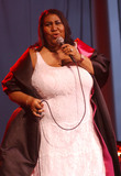 Aretha Franklin Photo - 16 August 2018 - 1942  Aretha Franklin the Queen of Soul Dies at 76 File Photo Jul 27 2003 Cleveland OH USA Singer ARETHA FRANKLIN performs at the Scene Pavilion in Cleveland OhioPhoto Credit Laura FarrAdMedia