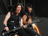 Anthrax Photo - 20 May 2012 - Columbus OH -  Lead vocalist JOEY BELLADONNA and bassist FRANK BELLO of the thrash metal band ANTHRAX performs at Day 2 of the  Rock On The Range Festival held at Crew Stadium Photo Credit Jason L NelsonAdMedia