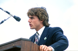 Tom Cruise Photo - Actor Tom Cruise makes remarks at an Earth Day rally at the United States Capitol in Washington DC on April 22 1990  The event celebrated the 20th anniversary of Earth DayCredit Howard L Sachs  CNPAdMedia