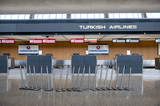 The Interns Photo - The morning hours are quiet at Turkish Airlines at the international terminal at Dulles International Airport in Dulles Va Monday March16 2020 Some people are taking the precaution of wearing face masks as they arrive to be greeted by family and or friends Credit Rod Lamkey  CNPAdMedia