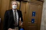 Kennedy Photo - United States Senator John Neely Kennedy (Republican of Louisiana) wears a protective mask while arriving to the US Capitol in Washington DC US on Saturday Feb 13 2021 The Senate voted to consider a request for witnesses at Donald Trumps impeachment trial injecting a chaotic new element that could end up prolonging proceedings that appeared to be on track to wrap up todayCredit Stefani Reynolds - Pool via CNPAdMedia