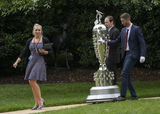 Alexandra Veletsis Photo - Alexandra Veletsis left Staff Assistant Office of Public Liaison Executive Office of the President escorts two men and the Borg-WarnerTrophy to the South Lawn of the White House in Washington DC prior to United States President Donald J Trump greeting the 103rd Indianapolis 500 Champions Team Penske on Monday June 10 2019  The President took some questions on trade Mexico and tariffs against ChinaCredit Ron Sachs  CNPAdMedia