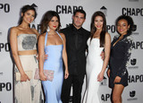 Abril Schreiber Photo - 19 April 2017 - Los Angeles California - Abril Schreiber Valentina Acosta Marco De La O Juliette Pardau and Tete Espinoza Univisions El Chapo Original Series Premiere Event held at The Landmark Theatre Photo Credit AdMedia