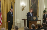 Keane Photo - United States President Donald J Trump right makes remarks as he presents the Presidential Medal of Freedom to US Army General John M Jack Keane (retired) left during a ceremony in the East Room of the White House in Washington DC on Tuesday March 10 2020  Keane is a former Vice Chief of Staff of the US Army and is a Fox News national security analystCredit Ron Sachs  CNPAdMedia