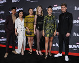 Ariela Barer Photo - 16 November  2017 - Westwood California - Rhenzy Feliz Lyrica Okano Ariela Barer Virginia Gardner Allegra Acosta Gregg Sulkin Premiere Of Hulus Marvels Runaways held at Regency Village Theater in Westwood Photo Credit Birdie ThompsonAdMedia