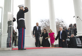 Jill Biden Photo - Vice President Joe Biden and his wife Jill walk with Vice President-Elect Mike Pence and his wife Karen as they arrives at the White House prior to the inauguration in Washington DC on January 20 2017 Later today Donald Trump will be sworn-in as the 45th President Photo Credit Kevin DietschCNPAdMedia