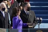 Supremes Photo - Kamala Harris is sworn in as vice president by Supreme Court Justice Sonia Sotomayor as her husband Doug Emhoff holds the Bible during the 59th Presidential Inauguration at the US Capitol in Washington Wednesday Jan 20 2021 (AP PhotoPatrick Semansky Pool)AdMedia
