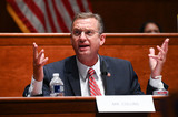 Train Photo - United States Representative Doug Collins (Republican of Georgia) speaks during a US House Judiciary Committee markup on HR 7120 the Justice in Policing Act of 2020 in Washington DC US on Wednesday June 17 2020 The House bill would make it easier to prosecute and sue officers and would ban federal officers from using choke holds bar racial profiling end no-knock search warrants in drug cases create a national registry for police violations and require local police departments that get federal funds to conduct bias training Credit Erin Scott  Pool via CNPAdMedia
