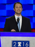 Jimmy Carter Photo - State Senator Jason Carter (Democrat of Georgia) grandson of former United States President Jimmy Carter makes remarks during the second session of the 2016 Democratic National Convention at the Wells Fargo Center in Philadelphia Pennsylvania on Tuesday July 26 2016 Photo Credit Ron SachsCNPAdMedia