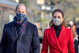 Train Photo - 8th December 2020 - Prince William Duke Of Cambridge and Kate Duchess of Cambridge Catherine Katherine Middleton arrive at Bath Spa train station ahead of a visit to a care home in the city to pay tribute to the efforts of care home staff throughout the COVID-19 pandemic on the final day of a three-day tour across the country Photo Credit ALPRAdMedia