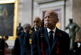 Elijah Cummings Photo - Civil Rights icon United States Representative John Lewis (Democrat of Georgia) prepares to pay his respects to the late US Representative Elijah Cummings (Democrat of Maryland) who lies in state within Statuary Hall during a memorial ceremony on Capitol Hill in Washington DC on Thursday October 24 2019 Credit Melina Mara  Pool via CNPAdMedia