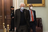 Bernie Sanders Photo - Senator Bernie Sanders an Independent from Vermont arrives for US Senate Proceedings during the Second Impeachment Trial of US President Trump on Capitol Hill in Washington DC February 12 2021 Credit Chris Kleponis - Pool via CNPAdMedia