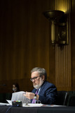 Andrew Wheeler Photo - Andrew Wheeler Administrator United States Environmental Protection Agency (EPA) reviews his notes during a US Senate Environment and Public Works Committee hearing on Capitol Hill in Washington DC US on Wednesday May 20 2020Credit Al Drago  Pool via CNPAdMedia