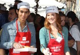 Anne Douglas Photo - 21 November 2012 - Los Angeles California - Booboo Stewart Sarah Drew Kirk And Anne Douglas Host 8th Annual Thanksgiving For Skid Row Homeless At Los Angele Mission Held At The Los Angeles Mission Photo Credit Kevan BrooksAdMedia