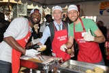 Aldis Hodge Photo - 21 November 2012 - Los Angeles California - Aldis Hodge Neil Patrick Harris Zachary Levi Los Angeles Mission Thanksgiving Dinner 2012 held at the LA Mission Photo Credit Byron PurvisAdMedia