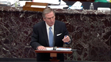 The Used Photo - In this image from United States Senate television Michael van der Veen an attorney for former US President Donald J Trump makes his closing argument during Day 5 of the second impeachment trial of the former president in the US Senate in the US Capitol in Washington DC on Saturday February 13 2021Mandatory Credit US Senate TV via CNPAdMedia