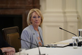 Devo Photo - United States Secretary of Education Betsy DeVos delivers remarks at the American Workforce Policy Advisory Board Meeting at the White House in Washington DC on Friday June 26 2020 Credit Chris Kleponis  Pool via CNPAdMedia