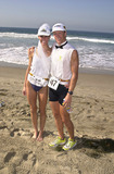 Alexandra Paul Photo -  Alexandra Paul and New Hubby Ian at the 14th Annual Nautica Triathlon in Zuma Beach 09-17-00