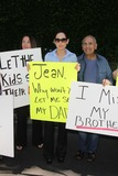 Casey Kasem Photo - Grisselle Halime Kerri Kasem Mouner Kasemat a protest involving Casey Kasems children brother and friends who want to see him but have been denied any contact  Private Location Holmby Hills CA 10-01-13