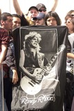 Randy Rhoads Photo - Fans with a Randy Rhoads banner at the ceremony posthumously inducting guitarist Randy Rhodes into Hollywoods Rockwalk on Sunset Boulevard Hollywood CA 03-18-04