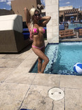 Sapphire Photo - Frenchy Morganthe Celebrity Big Brother Star is spotted in a tiny bikini at the opening of the Sapphire Day Club Las Vegas NV 04-20-18