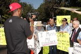 Casey Kasem Photo - Mouner Kasem Kerri Kasem Don Bustany talk to pressat a protest involving Casey Kasems children brother and friends who want to see him but have been denied any contact  Private Location Holmby Hills CA 10-01-13