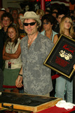 Iron Maiden Photo - Bruce Dickinson at the ceremony honoring Iron Maiden with induction in to the Hollywood Rockwalk Rockwalk HollywoodCA 08-19-05