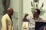 Ike Turner Photo - John Singleton and Ike Turner at Singletons induction into the Hollywood Walk of Fame Hollywood CA 08-26-03