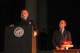 Adam West Photo - Charlie Beck Eric Garcettiat the Bat Signal Lighting Ceremony to honor Adam West Los Angeles City Hall Los Angeles CA 06-15-17