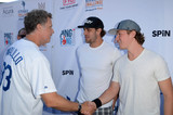 Anze Kopitar Photo - Will Ferrell Anze Kopitar Tyler Toffoliat Clayton Kershaws Ping Pong 4 Purpose Celebrity Tournament to Benefit Kershaws Challenge Dodger Stadium Los Angeles CA 08-11-16
