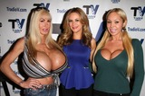 Elizabeth Starr Photo - Elizabeth Starr Jessica Kinni Mary Careyon the set of Politically Naughty with Mary Carey TradioV Studios Los Angeles CA 12-09-13