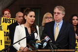 Casey Kasem Photo - Kerri Kasem Troy Martinat Casey Kasems Family Press Conference Stanley Mosk Courthouse Los Angeles CA 01-30-15