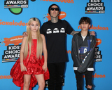 Alabama Barker Photo - LOS ANGELES - MAR 24  Alabama Barker Travis Barker Landon Barker at the 2018 Kids Choice Awards at Forum on March 24 2018 in Inglewood CA