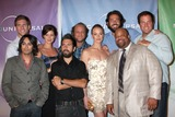 Adam Baldwin Photo - Cast of Chuck  (Back row  Ryan McPartlin Sarah Lancaster Scott Krinsky  Yvonne Strahovski Zach Levi  Adam Baldwin  Front Row Vik Sahay Joshua Gomez and  Mark Christopher Lawrence)  arriving at the NBC TCA Party at The Langham Huntington Hotel  Spa in Pasadena CA  on August 5 2009 2009 Kathy Hutchins  Hutchins Photo