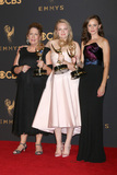 Alexis Bledel Photo - LOS ANGELES - SEP 17  Ann Dowd Elisabeth Moss Alexis Bledel at the 69th Primetime Emmy Awards - Press Room at the JW Marriott Gold Ballroom on September 17 2017 in Los Angeles CA