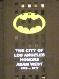 Angel City Photo - LOS ANGELES - JUN 15  Atmosphere at the Bat Signal Lighting Ceremony to honor Adam West at the Los Angeles City Hall on June 15 2017 in Los Angeles CA