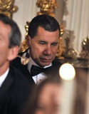 David A Paterson Photo - Washington DC - February 21 2010 -- Governor Governor David A Paterson of New York listens as United States President Barack Obama delivers toast remarks at the 2010 Governors Ball for the National Governors Association in the State Dining Room of the White House in Washington DC on Sunday February 21 2010Photo by Ron SachsPool-CNP-PHOTOlinknet