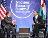 Abdullah II of Jordan Photo - United States President Barack Obama holds bilateral meeting with King Abdullah II of Jordan on the sidelines of the Nuclear Security Summit at the Washington Convention Center Monday April 12 2010 in Washington DCPhoto by Ron SachsPool-CNP-PHOTOlinknet