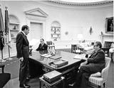 Henry A Kissinger Photo - Washington DC - December 14 1972 -- United States President Richard M Nixonleft meets with Doctor Henry A Kissinger right and General Alexander M Haig Jr center in the Oval Office in the White House in Washington DC on December 14 1972Credit White House via CNPPHOTOlinknet