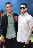 Andy Hurley Photo - Photo by KGC-11starmaxinccomSTAR MAX2016ALL RIGHTS RESERVEDTelephoneFax (212) 995-119671016Pete Wentz and Andy Hurley (Fall Out Boy) at the premiere of Ghostbusters(Los Angeles CA)
