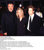 Burt Reynolds Photo - Photo by Stephen TruppSTAR MAX Inc - copyright 1997Burt Reynolds with wife and Mark Wahlberg