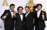 Armando Bo Photo - Photo by PDstarmaxinccomSTAR MAX2015ALL RIGHTS RESERVEDTelephoneFax (212) 995-119622215Screenwriters Nicolas Giacobone Alejandro G Inarritu Alexander Dinelaris and Armando Bo in the Press Room at the 2015 Oscars held at the Kodak Theatre Hollywood(Los Angeles USA)
