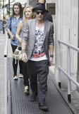 30 Seconds to Mars Photo - Shannon Leto drummer for the American band 30 Seconds to Mars leaves BBC Radio 1 with his entourage after an interview at the studio  Shannon performs in the rock band with his brother Jared who was also at the studio but the pair left the building in separate limos London UK 070810