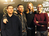 Jess Adams Photo - Jesse Carmichael Adam Levine James Valentine and Mickey Madden arrive at The Black Eyed Peas pre Super Bowl party presented by Bacardi and Sports Illustrated held at Music Hall at Fair Park  The Black Eyed Peas will be performing tomorrow during the Super Bowl XLV half time show where the Pittsburgh Steelers are playing the Green Bay Packers  Dallas TX 020411