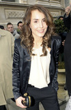 Noomi Rapace Photo - In a sleek female tuxedo white blouse and platform stilettos Swedish actress Noomi Rapace star of the original version of The Girl with the Dragon Tattoo series and co-star in the upcoming Sherlock Holmes sequel arrives at Corinthia Hotel for the BAFTA nomination luncheon hosted by Momentum Pictures  As Noomi got out of the car she arrived in a Cosmopolitan magazine could be seen in the car seat pocket London UK 021211