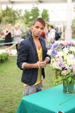 Aston Merrygold Photo - Boyband JLS member Aston Merrygold at The RHS Chelsea Flower Show 2011 The event is the worlds most famous flower show and celebrates the highest quality horticulture London UK 052311
