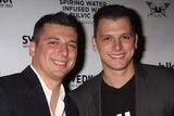 ALBIE MANZO Photo - Chris Manzo and Albert Albie Manzo Jr (Sons of Caroline Manzo) From Bravos the Real Housewives of New Jersey Arriving at Launch of Blk Beverages at Kiss  Fly in New York City on 03-05-2011 photo by Henry Mcgee-globe Photos Inc 2011